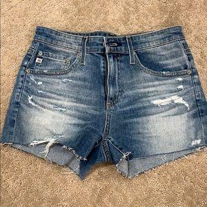 NWT AG denim cut off shorts